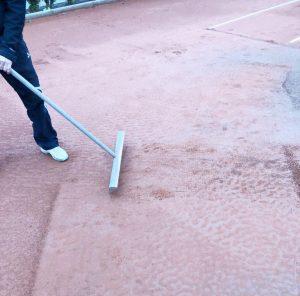 Tennisplatzeinwinterung Sportunion Klagenfurt